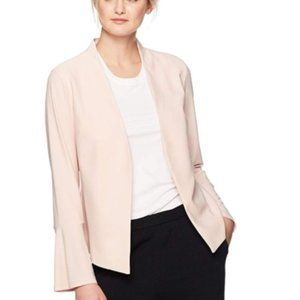 Adrianna Papell Crepe Knit Jacket Smoke Rose